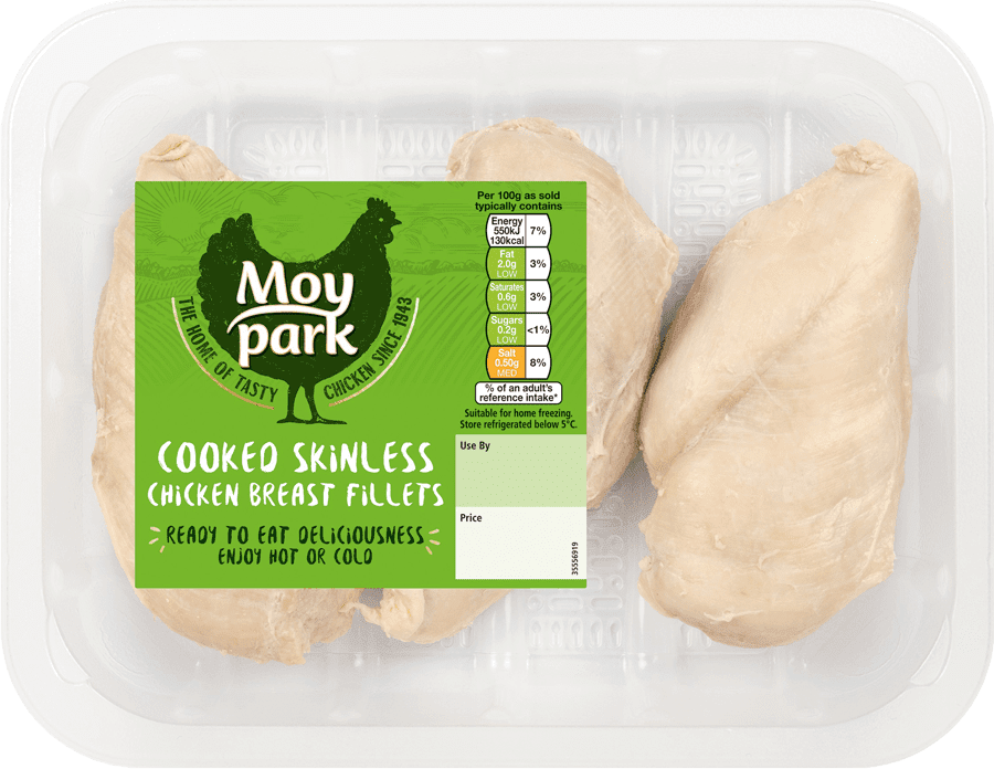Moy Park Chicken - Cooked Skinless Chicken Breast Fillets