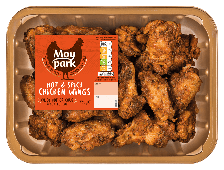 Moy Park Chicken - Hot & Spicy Chicken Wings